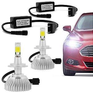 Kit Lâmpada Super LED Headlight H8 6000K 12V e 24V 32W 3200LM para Carro, Caminhão e Moto