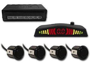 Sensor de Estacionamento 4 pontos com Display Led Preto