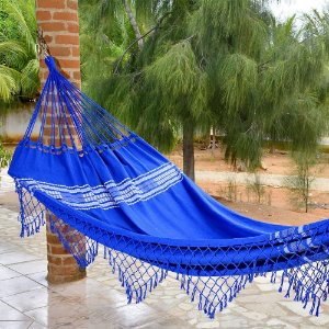 Rede de Dormir Casal Pernambucana Azul Anil