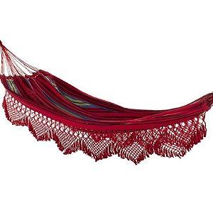 Rede de Dormir e Descanso Casal Catarinense Vermelha