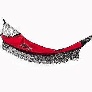 Rede de Dormir de Descanso Casal Bordado Flamengo