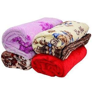 Cobertor Microfibra Casal kit com 6 unidades