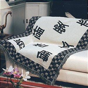 Manta Decorativa p/ Sofá 1,50m x 1,00m Oriental