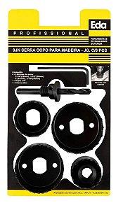 SERRA COPO PARA MADEIRA GESSO E PVC COM 6 PECAS