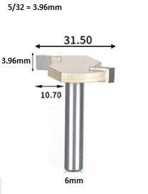 Fresa T Serrinha Debrum  Haste 6mm Corte 5/32 ( Perfil T)