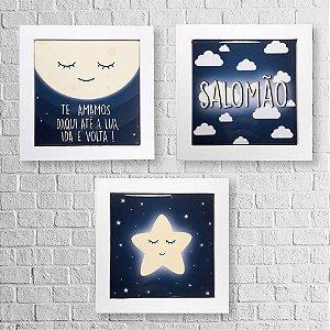 Kit de Quadros Decorativos Personalizados Infantil Boa Noite