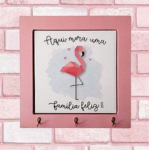 Porta-chaves Flamingo