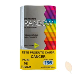 Fumo para Cigarro Rainbow Silver Bright Hitobacco 25g