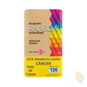Fumo para Cigarro Rainbow Golden Brown 25g