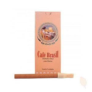 Cigarrilha Café Brasil Tradicional Com Piteira CX C/5