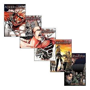 Ataque Dos Titãs - Volumes 01 ao 05 (Item novo e lacrado)