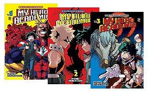 My Hero Academia - Volumes 01 ao 03 (Itens novos e lacrados)