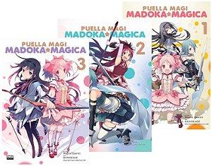 Puella Magi : Madoka Magica - Volumes 01, 02 e 03 - Completo (Itens novos e lacrados)