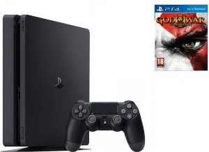 Playstation 4 Slim 500GB + Jogo God Of War 3 Remasterizado