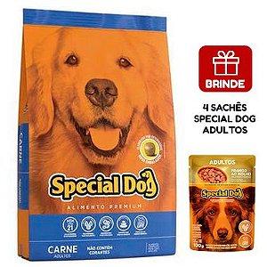 Ração Special Dog Premium Carne para Cães Adultos 20 Kg