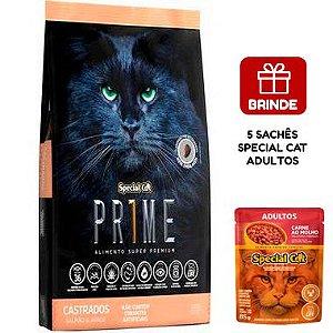 Ração Special Cat Prime Salmão e Arroz para Gatos Adultos Castrados 20 Kg