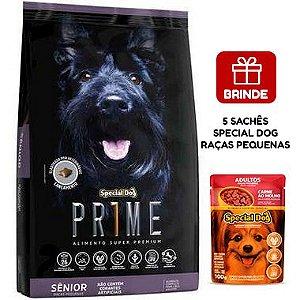 Ração Special Dog Prime Sênior para Cães Adultos de Raças Pequenas  15 Kg