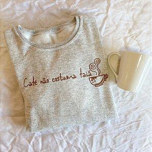 Moletom café não costuma faia