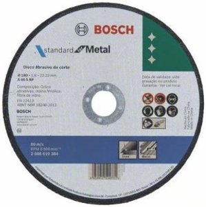 DISCO DE CORTE BOSCH METAL INOX 180X1,6MM STD 2608619384