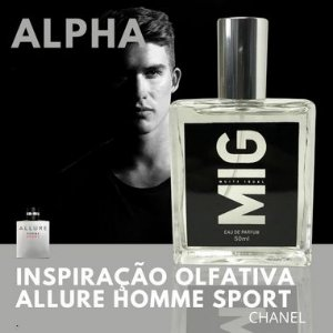 Perfume Alpha Inspirado no Allure homme sport 50 ml