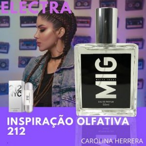 Perfume Electra Inspirado no 212 nyc 50 ml