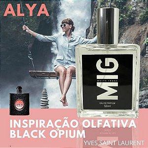 Perfume Alya Inspirado no Black Opium 50ml