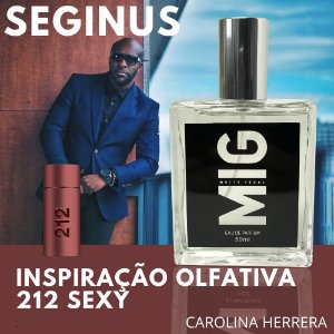 Perfume Seginus Inspirado no212 Sexy 50 ml