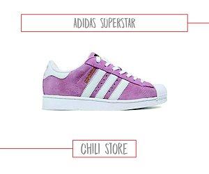 tenis adidas superstar feminino rosa