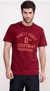 Camiseta Presidium manga curta estampada cabernet