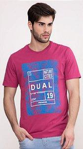 Camiseta Presidium manga curta estonada marsala