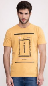 Camiseta Presidium manga curta estonada golden