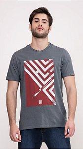 Camiseta Presidium manga curta tingida cinza