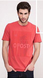 Camiseta Presidium manga curta tingida salmão