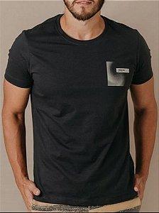 Camiseta Presidium manga curta estampada cinza