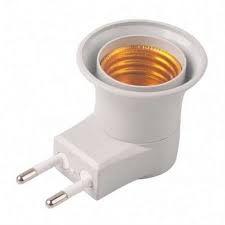 Adaptador Tomada Soquete E27 p/ Lampada Bivolt Chave Liga Desliga