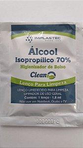LENÇO ALCOOL ISOPROPÍLICO 70% UNIDADE