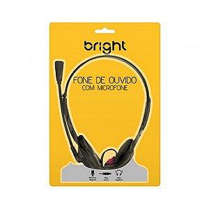 FONE DE OUVIDO HEADPHONE COM MICROFONE BRIGHT
