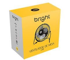 MINI VENTILADOR DE MESA - BRIGHT USB