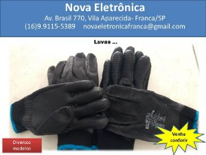 luva para proteção das mãos contra agentes abrasivos, escoriantes, cortantes e perfurantes