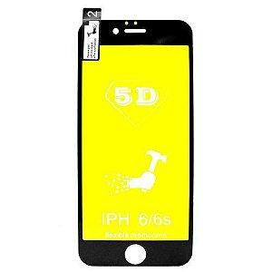 Película de gel 5D Nano flexível para Iphone 6/6s cobre a tela toda com kit limpeza