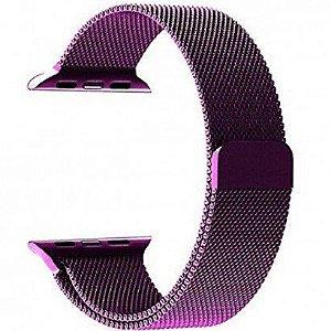 Pulseira Estilo milanês Magnética Para Apple Watch 42/44mm - Roxo
