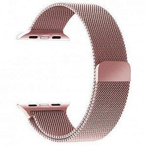 Pulseira Estilo MIlanês Magnética Para Apple Watch 42/44mm - Rosa