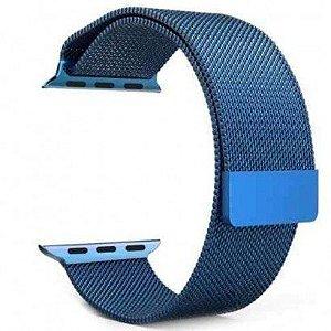 Pulseira Estilo Milanês Magnética Para Apple Watch 38/40mm - Azul