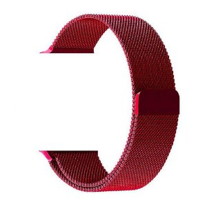 Pulseira Estilo Milanês Magnética Para Apple Watch 38/40mm - Vermelho