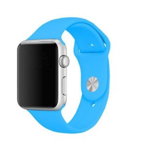 Pulseira De Silicone Sport para Apple Watch 38/40mm - Azul Piscina