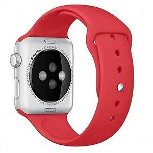 Pulseira De Silicone Sport para Apple Watch 42/44mm - Vermelho Sangue