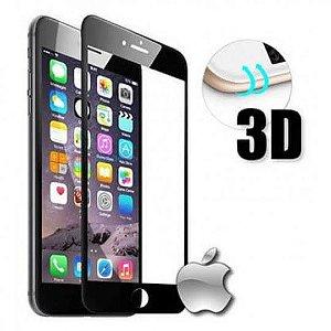 Película 3D Vidro para iphone 7 e 8, cor branco ou preto