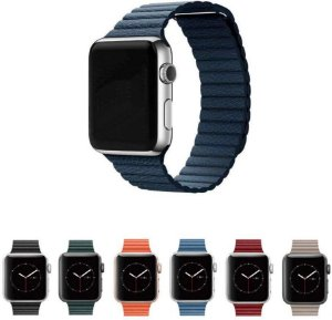 Pulseira Couro Loop para Apple Watch 44mm e 42mm