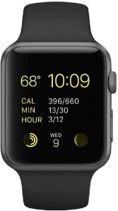 Apple Watch Series 3, Celular + GPS, 42 mm, Alumínio Cinza Espacial, Pulseira Esportiva Preto + Película