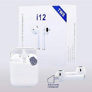 Fone Earphone Bluetooth 5.0 i12 Tws com Touch Atendimento